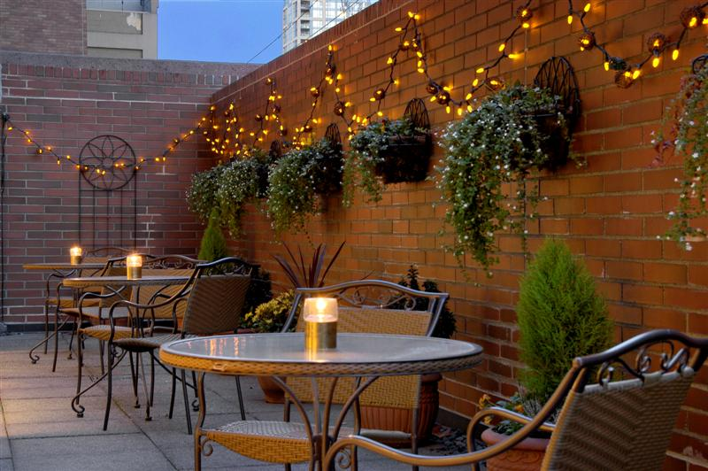 Georgian Court Hotel Vancouver Mezzanine Terrace Patio