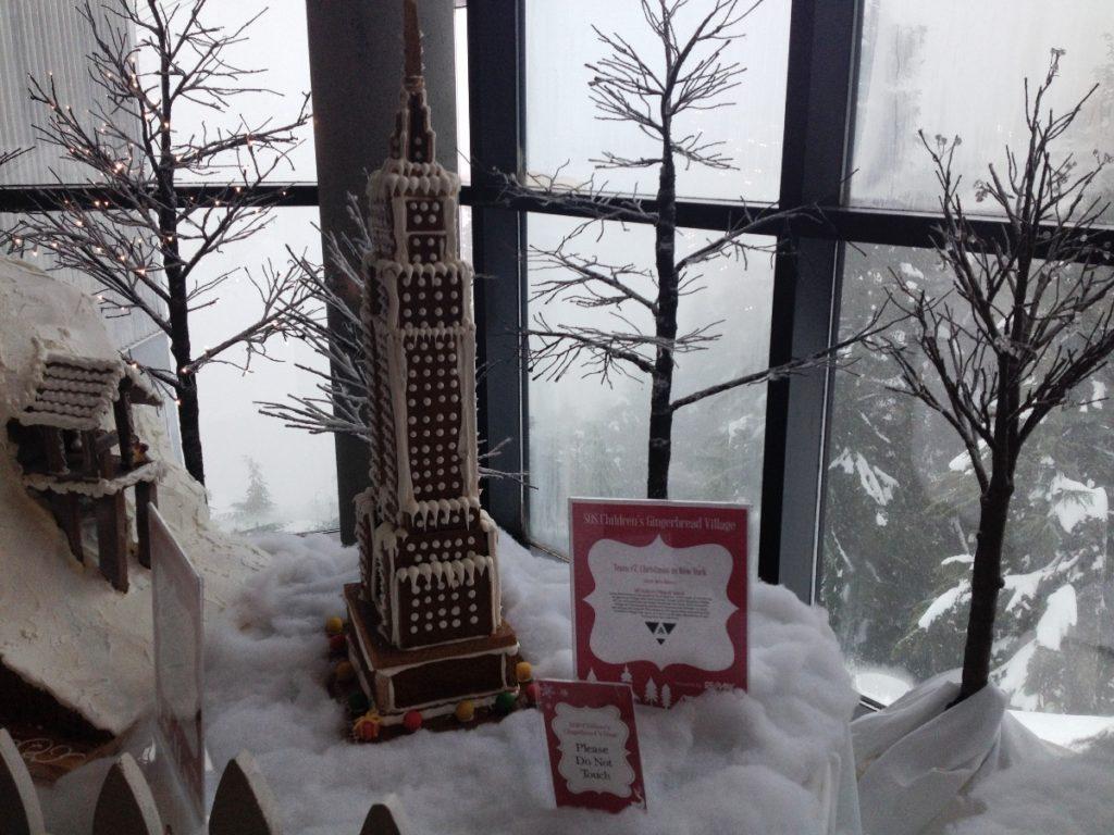 peak of christmas grouse mountain gingerbread house