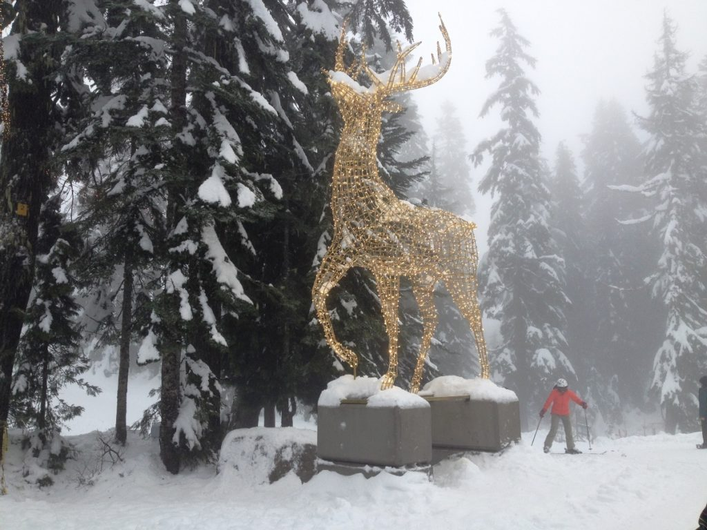 peak of christmas grouse mountain reindeer lights
