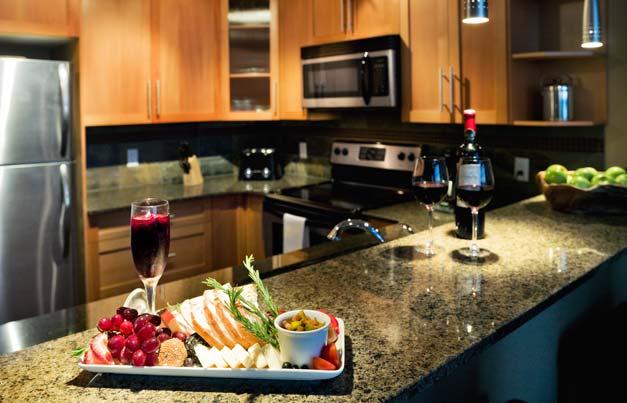 beach club resort parksville kitchen