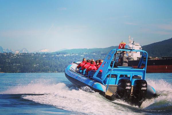 bowen island dinner and zodiac boat tour