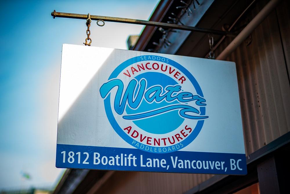vancouver water adventures bowen island sign