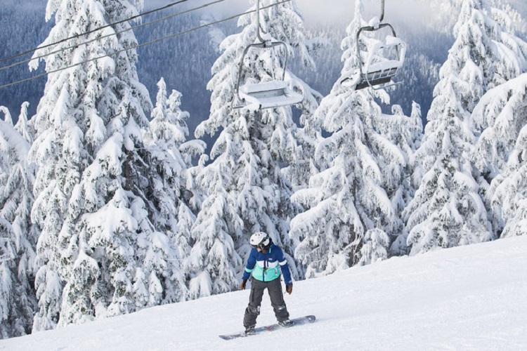 Skiing and Snowboarding Grouse Mountain