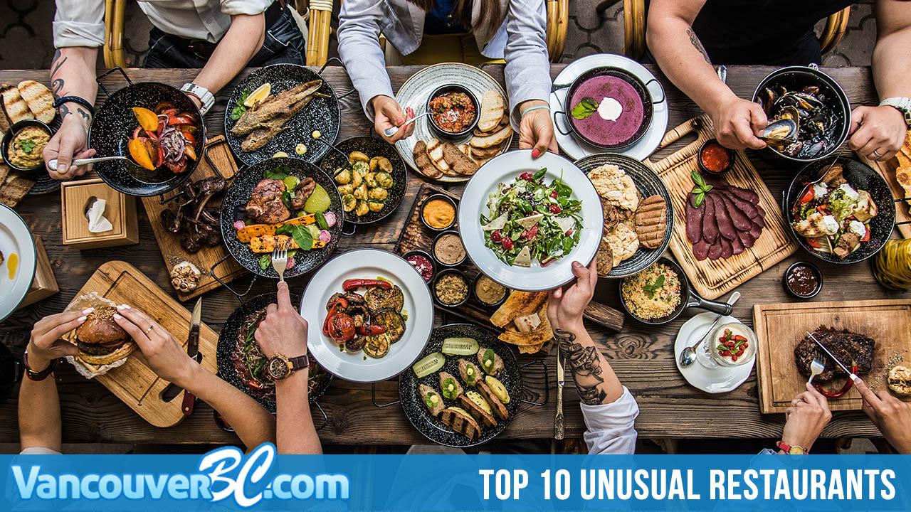 Top 10 Unusual Restaurants in Vancouver