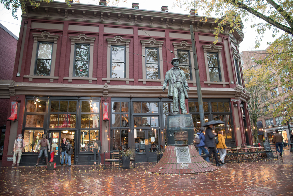 Gassy Jack Statue Gastown Vancouver