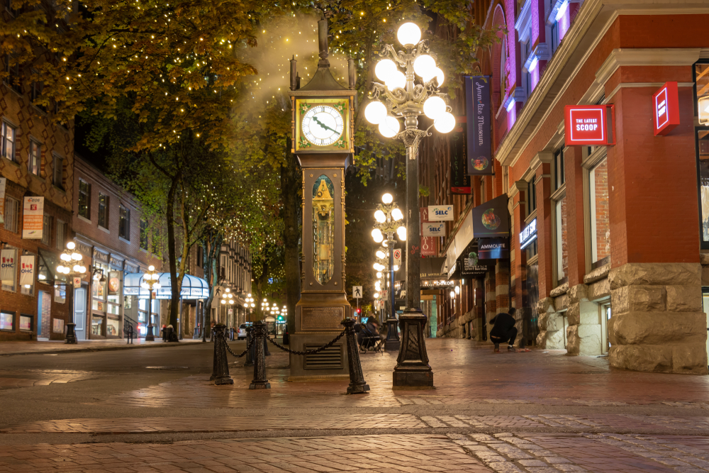 Whistling Steam Clock Gastown Vancouver